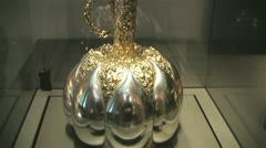 Silver flagon Stock Footage