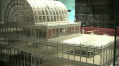 Model of the crystal palace Stock Footage