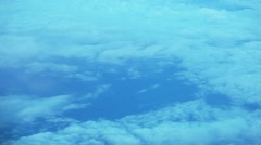 View from airplane of clouds Stock Footage