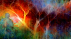 Psychedelic Acid Worship, Praise, Meditation Stock Footage
