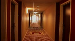 1440 Hotel Hallway - stock footage