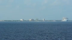 Approaching Cozumel Mexico 2561 - stock footage