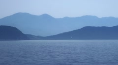 Early morning Adriatic landscape Stock Footage