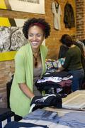 Afrikkalainen amerikkalainen pienyrittäjä vaatekauppa Kuvituskuvat