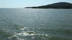 View from bc ferry, gulf islands, bc canada Stock Footage
