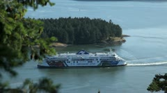 galiano island bc canada - july 26, 2012 bc ferry in active pass - stock footage