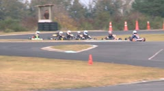 Go carts racing Stock Footage
