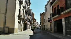 Small Town Street in Spain 01 Catalonia Stock Footage
