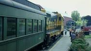 Train Engine & Passenger Car Stock Footage