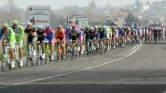 Annual cycle race Milano–Sanremo  on March 30, 2012  in Montebello, PV, Italy. - stock footage