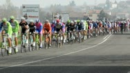Stock Video Footage of Annual cycle race Milano–Sanremo  on March 30, 2012  in Montebello, PV, Italy.