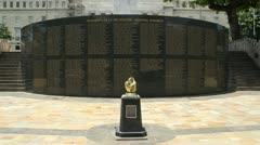 Memorial Day monument for fallen soldiers US Armed Forces Puerto Rico 3 Stock Footage