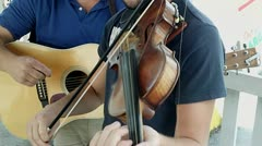 Kentucky Impromptu Fiddle Concert Clip Stock Footage