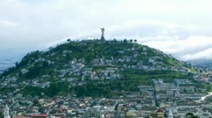 The most important touristic attraction of Quito touristic center presented in - stock footage