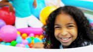 Multi Ethnic Childhood Play Stock Footage