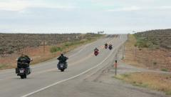 Motorcycle group ride desert road southern Utah P HD 1680 - stock footage
