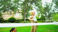 Home Garden Fun Sports Day Stock Footage
