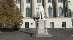 Main building of Humboldt University in Berlin Stock Footage
