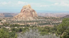 Rock tower formation desert southern Utah P HD 1788 Stock Footage
