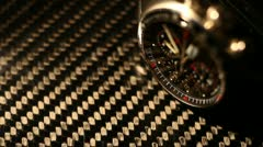 Expencive watch clockwork 3 - stock footage