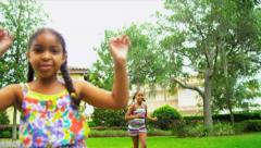 Little Girls Healthy Exercise Sport Stock Footage