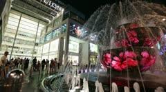 Fountain at night in Kuala Lumpur - stock footage