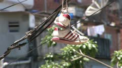Residents of the favela Morro do Favela in Rio de Janeiro Stock Footage