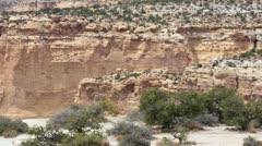 San Rafael Swell canyon desert Utah pan P HD 1790 Stock Footage