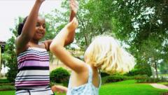 Childhood Friends Celebrating Achievements - stock footage