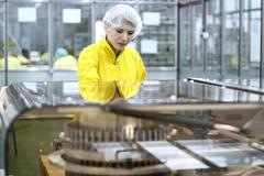 Female Worker at Pharmaceutical Factory Stock Photos