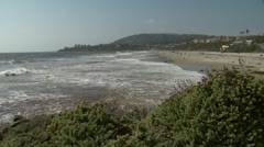 Salt Creek Beach Surf and Foliage - stock footage