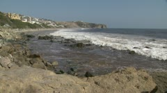 Pacific Coast at Dana Point, California Stock Footage