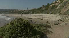 Salt Creek Beach pan left Stock Footage