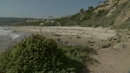 Stock Video Footage of Salt Creek Beach pan left