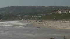 Salt Creek Beach zoom out - stock footage