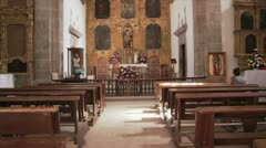 Walk inside church Stock Footage