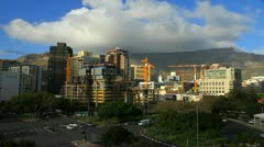Establisher of Cape Town city  with Table Mountain,South Africa.Time lapse Stock Footage