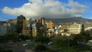 Stock Video Footage of Capetown CBD timelapse,Table Mountain