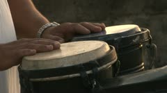 Stock Video Footage of Bongo Instrument at Malecon Havana Cuba
