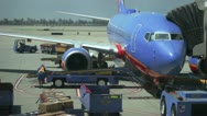 Jet plane loading Stock Footage