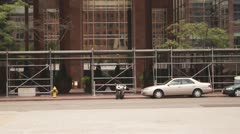 Traffic wideshot, cars driving by. Stock Footage