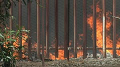 Fire in city. Stock Footage