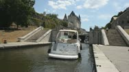 Entering The Rideau Locks 2 Stock Footage