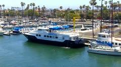 Long Beach Marine Institute Boat At Berth Stock Footage