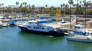 Long Beach Marine Institute Boat At Berth Stock Footage
