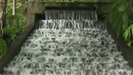 Stock Video Footage of Water steps from top