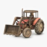 3d model of Photorealistic Tractor