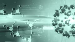 Science background, Molecular structure. Chemical biology. Stock Footage