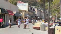 The boardwalk at Catalina Island in Southern California. - stock footage
