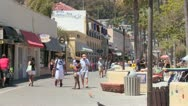 The boardwalk at Catalina Island in Southern California. Stock Footage